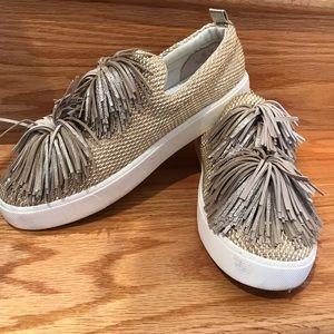 Sam Edelman Emory Fringe Pom Pom Sneakers